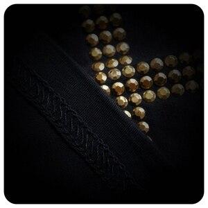Image 5 - Yüksek kalite erkekler moda çapraz pullu kısa kollu t gömlek gece kulübü sahne kostüm erkek şarkıcı hip hop punk tees tops streetwear