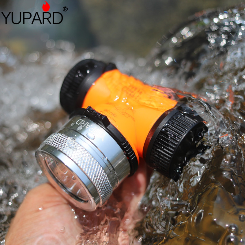 YUPARD Double wick diving flashlight torch xml t6 <font><b>led</b></font> headlamp underwater <font><b>light</b></font> 18650 26650 battery <font><b>rechargeable</b></font> headlight lamp image
