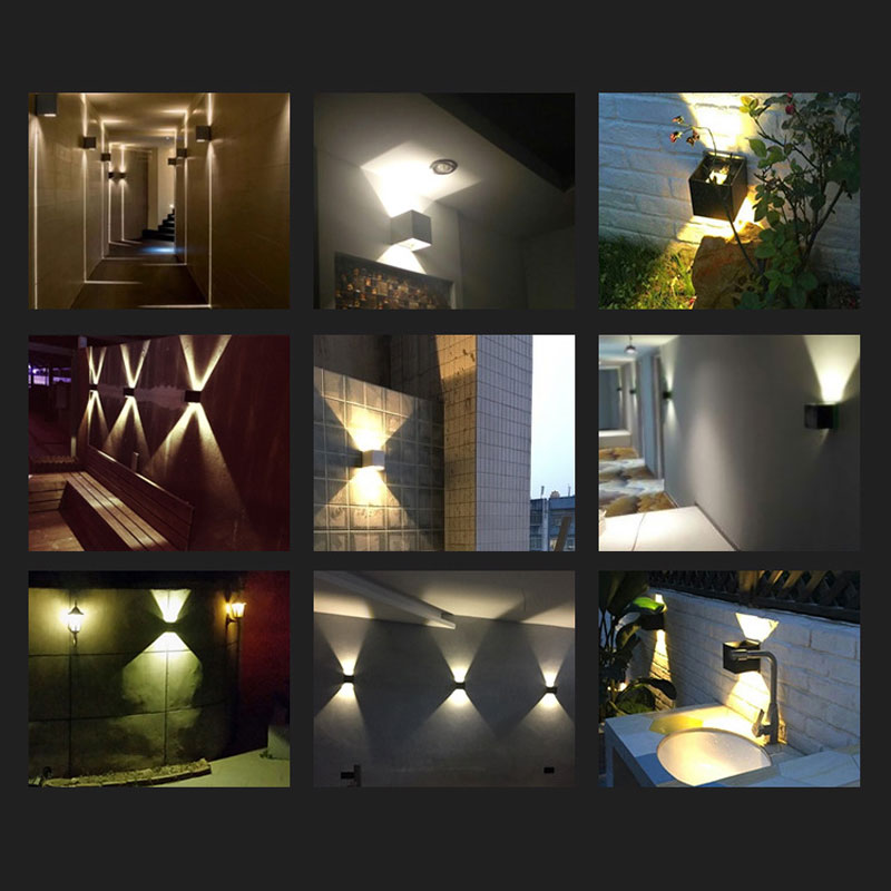 Us 8 42 60 Off Led Waterproof Wall Sconce Surface Mounted Outdoor Lighting Adjule Up Down Creative Exterior Lamps In