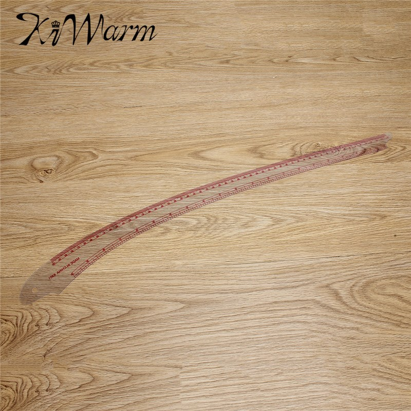 KiWarm Practical Ruler French Curve Cutting Ruler Yardstick Sleeve Arm French Grading Curve Ruler Sewing Tool