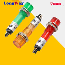 LED 7mm hole 5PCS Metal plastic Indicator lights waterproof Signal lamp 12V 24V 220v no wire power signal lamp LED indication(China)
