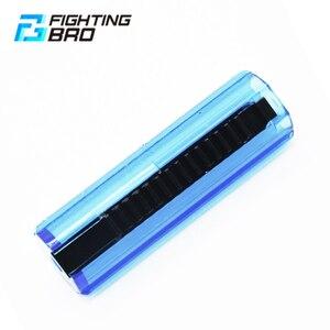 Image 2 - Fightingbro pistão plástico aço carbono completo transparente 15/14 escada dente para airsoft aeg ak m4 gel blaster caixa de velocidades