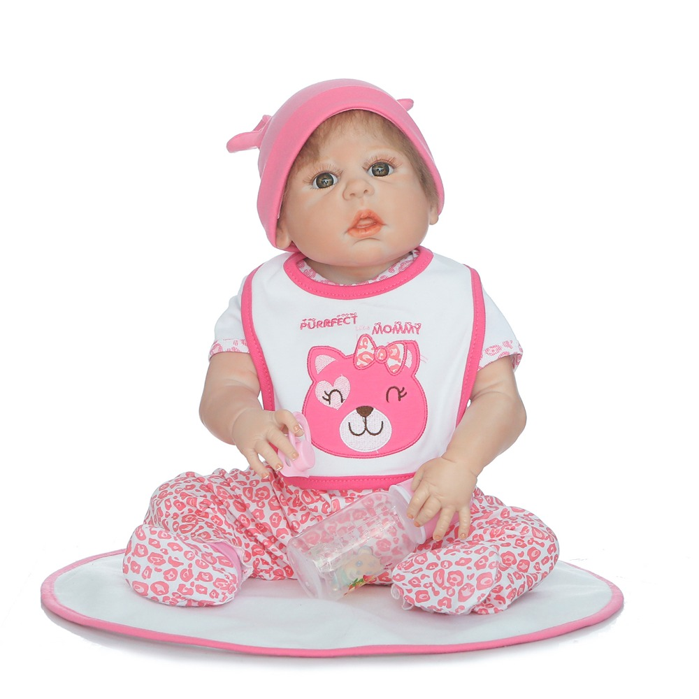 Bebes reborn menina 22 Full Silicone Reborn Baby Doll Toys Like  Newborn Babies alive Doll Birthday Gift Girls  Bonecas Bebes reborn menina 22 Full Silicone Reborn Baby Doll Toys Like  Newborn Babies alive Doll Birthday Gift Girls  Bonecas