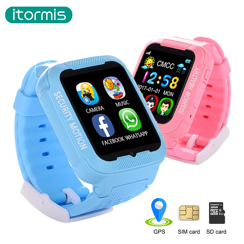 itormis Kids GPS tracker smart watch sim card watch ...