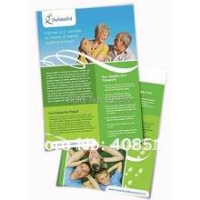 Индивидуальный дизайн бумага с художественным оформлением листовки, A5 A4 распечатка флаеров