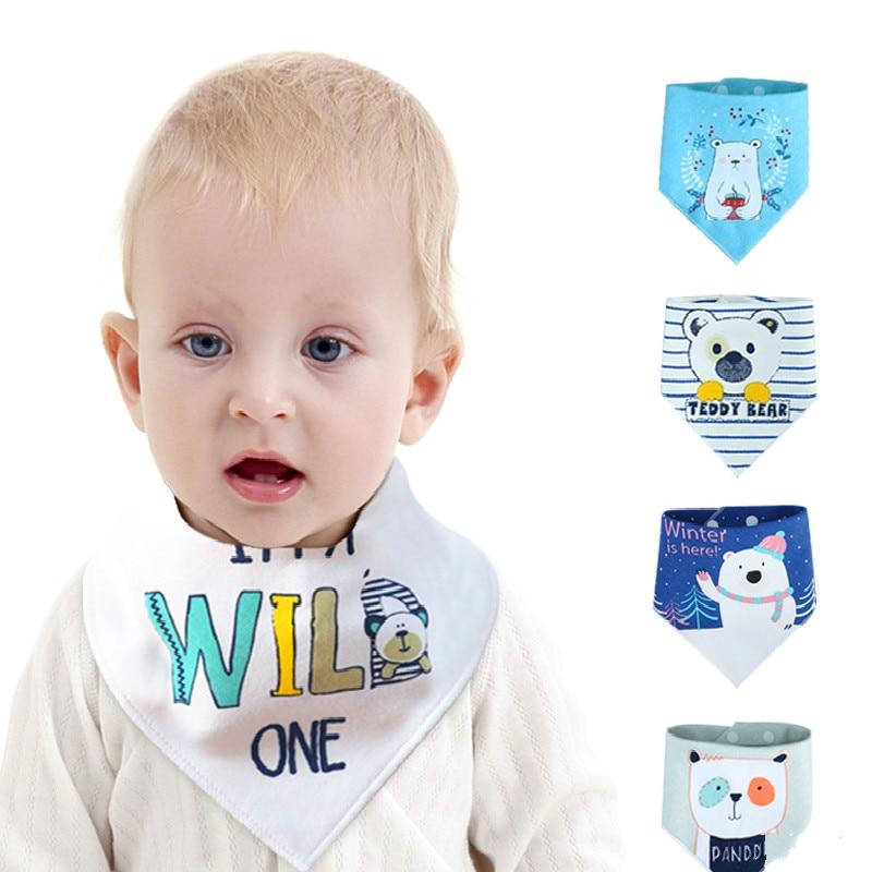 Baby Bibs Boy Girl Bandana Water Absorb Bib Burp Cloth Print Animal Triangle Cotton Baby Scarf Burp Baby Christmas Accessories