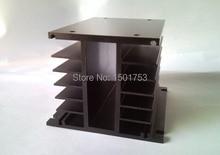 лучшая цена H shape 150*100*80mm Aluminum Single Phase Solid State Relay SSR Heat Sink