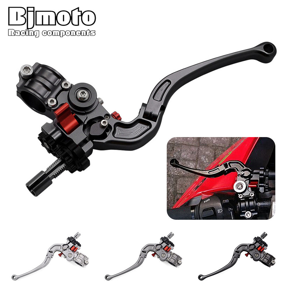 Freeshipping CNC 22mm Moto Assembly Foldable Handlebar Clutch Lever For yamaha honda kawasaki ktm suzuki 7/8 handlebar Stunt 22mm 7 8 motorcycle handlebar cnc aluminum adjustable stunt clutch lever assembly for dirt bike