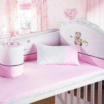 Promotion! 4PCS Baby Cot Bedding Set Newborn Cartoon Crib Bedding ,120*60/120*70cm promotion 6 7pcs cot bedding set baby bedding set bumpers fitted sheet baby blanket 120 60 120 70cm