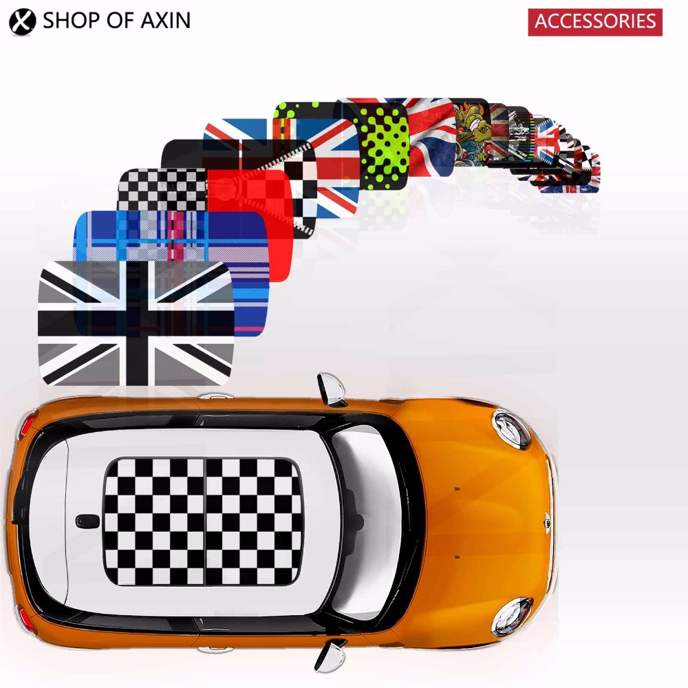MINI style sun roof Graphics stickers Sunroof for MINI Cooper clubman countryman hardtop R50 R53 R55 R56 R60 R61 F54 F55 F56 F60 1pair union jack car side door skirt decal sticker decor for mini cooper f54 f55 f56 f60 r55 r56 r60 r61 car styling accessories