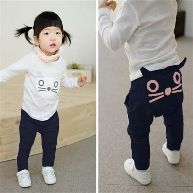 TANGUOANT-Retail-hot-sale-spring-and-autumn-kids-clothing-boys-girls-harem-pants-cotton-owl-trousers-baby-pants-1