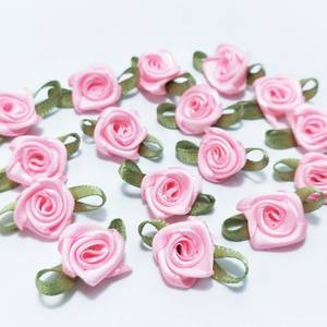 Top 10 largest pink ribbon rose flowers list hl 100pcs ribbon flowers decoration diy sewing crafts mightylinksfo