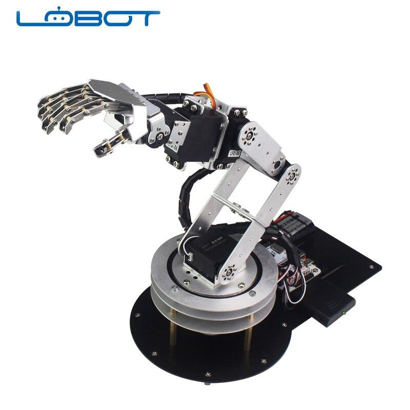 6 DOF Robot Arduino Servo bras de danse Kit main humanoïde télécommande éducatif RC pièces Robot
