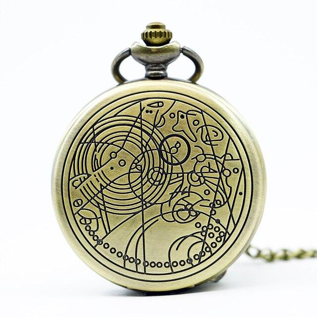 7fb47931f45 Vintage Bronze Silver Doctor Who Style Fashion Quartz Pocket Watch Best  Gift relogio de bolso