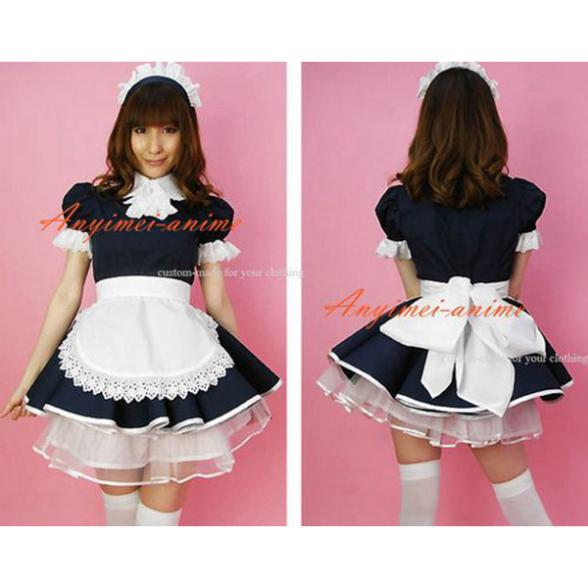 Free Shipping Sissy Maid Dress Lockable Cotton French Maid Uniform Cosplay  Costume Tailor-made( - Popular Sissy Maid Uniform-Buy Cheap Sissy Maid Uniform Lots From