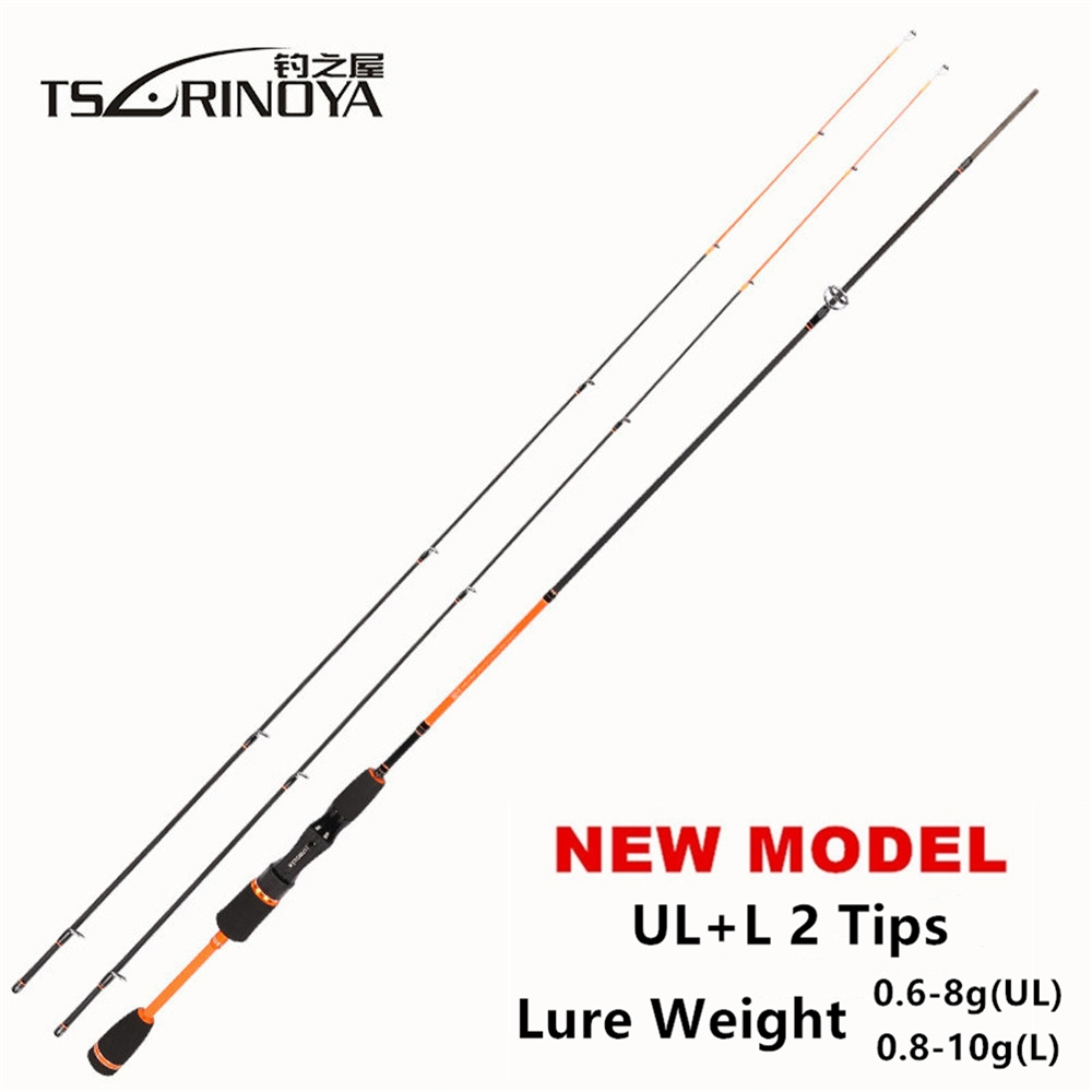 TSURINOYA Fishing-Spinning-Rod Carbon-Fiber 2-Tips Ultra-Light Luminous IV C.W