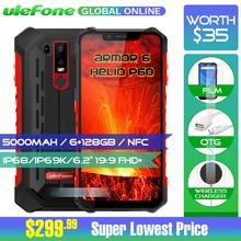 Ulefone Zırh 6 IP68 Su Geçirmez Cep Telefonu Helio P60 6 GB + 128 GB 6.2