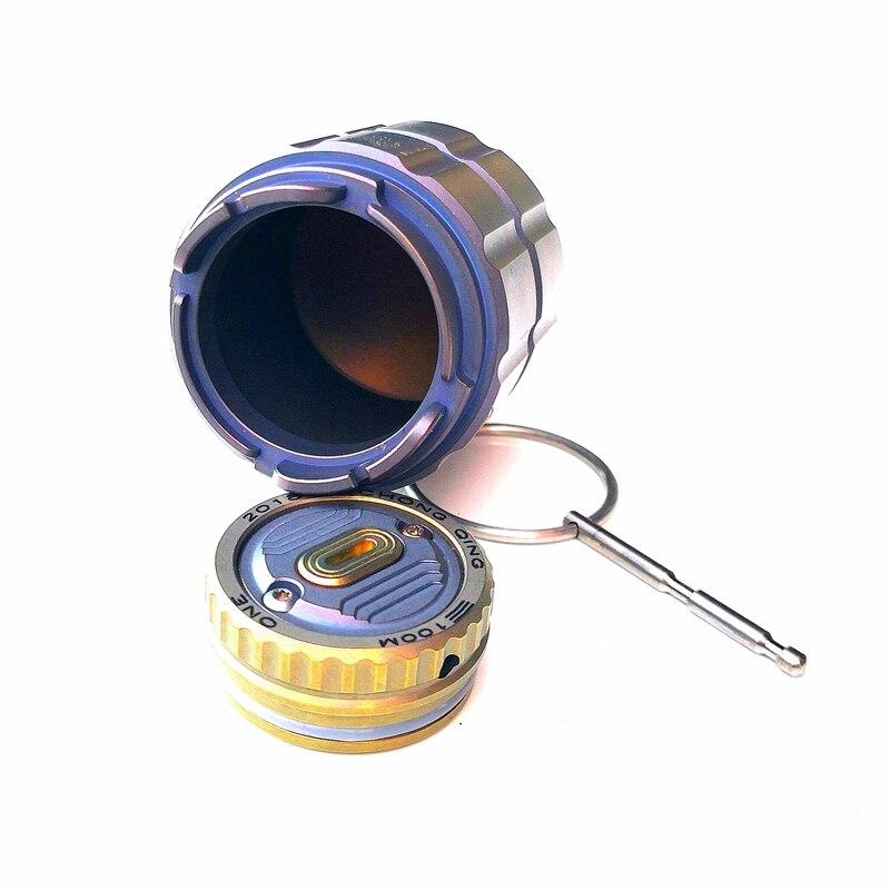 Pot en titane de bouteille de capsule étanche portable bouteille de médicament boîte de stockage réservoirs de camping en plein air outil - 3