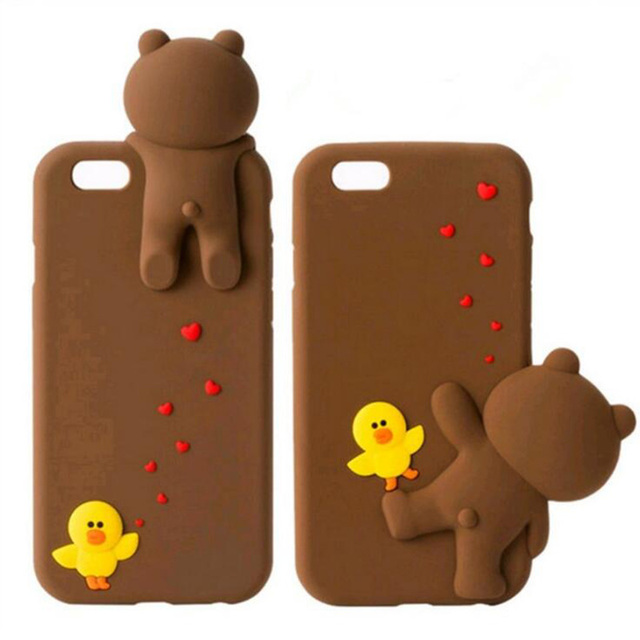 Pies Bears For Iphone6 6s 6p 6splus Three Dimensional Cute Little - Baeras-con-pies