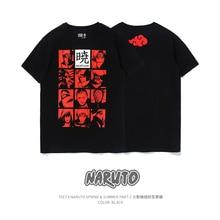 Tipi 7 hommes décontracté à manches courtes t shirts Anime akatsuki de Naruto coton mode imprimé t shirt mâle col rond fête Fitness Blouse