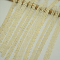 400yards Vintage Ivory Cream Cotton Crochet Lace Trim Wedding Ribbon Sewing Craft