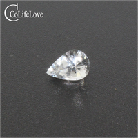 Pear cut whire sapphire loose gemstone 4 mm * 6 mm real natural white sapphire jewelry DIY wholesale price gemstone