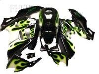 Full Fairing Kits for HONDA CBR 600 F3 fairings 1997 1998 CBR600 F3 97 98 green black fairing kit Nn