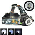 2500Lm XML T6 Rechargeable LED Headlight 18650 Headlamp Head Lamp Light Zoomable Adjust Focus Lantern For Camping
