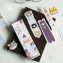 30pcs/box Lovely institute plant Gift Paper Bookmarks Stationery Kawaii Cartoon Office School Supply