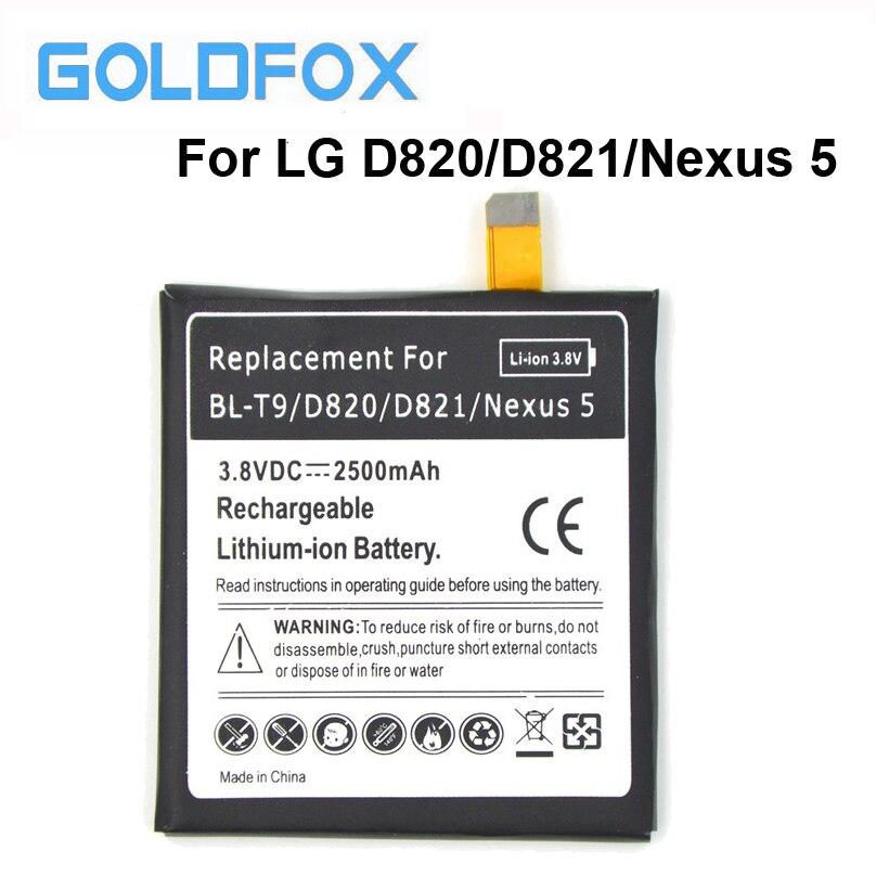 High Quality 2500mAh 3.8V Rechargeable Li-ion <font><b>battery</b></font> BL-T9 For LG Google Nexus 5 E980 D820/<font><b>D821</b></font> BLT9 BL T9 Phone <font><b>Battery</b></font>