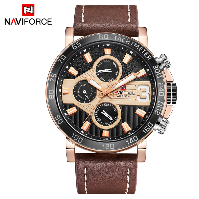 Naviforce Brand Man Watches Week 3ATM Clock Men's Analog Quartz 24 Hour Date Watches Men Sport WristWatches weide brand watches business for men analog digital watches wristwatches 3atm water resistance steel clock black dial wh3403 page 7