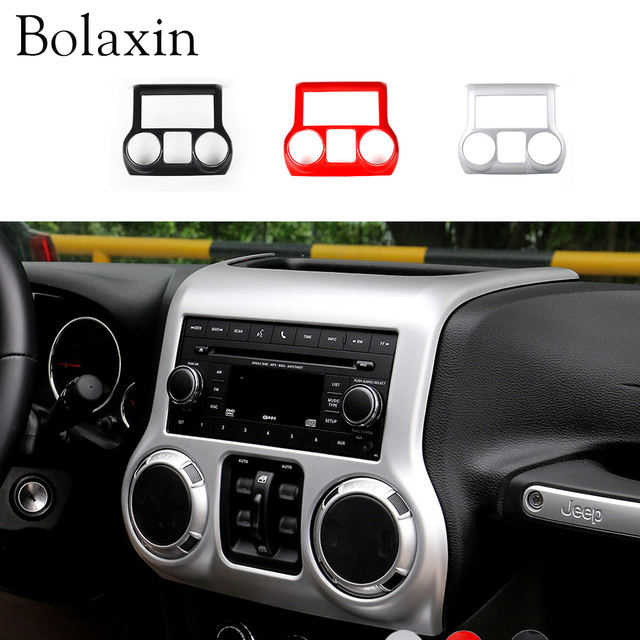 Good Bolaxin Interior Accessories Trim ABS Center Dash Console Cover Trim  Decoration For Jeep Wrangler 2011