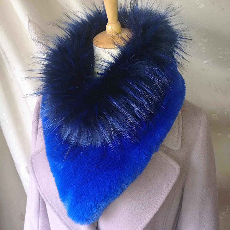 2019 New Fashion Faux Fur Lic Scarf for Women Snud Elegant Luxury Faux Fox  Fur Snoring for Women Fur Collar Infinity Neck Scarf
