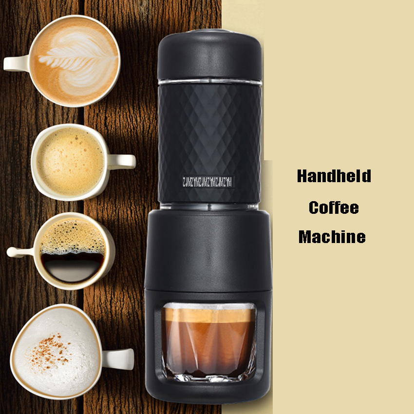 SP-200 Multifunction Mini Handheld Capsule Coffee Machine Outdoor Portable Manual Espresso Cappuccino Italian Coffee Machine 30jz6 espresso manual coffee makers mini portable coffee machine capsule coffee
