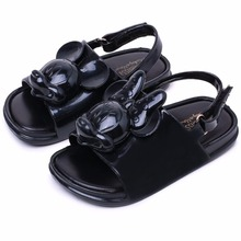 Mini Melissa Girls Sandals 2018 Summer Fashion Cute Cartoon Love Mickey Minnie Soft Toddler Baby Shoes Kids