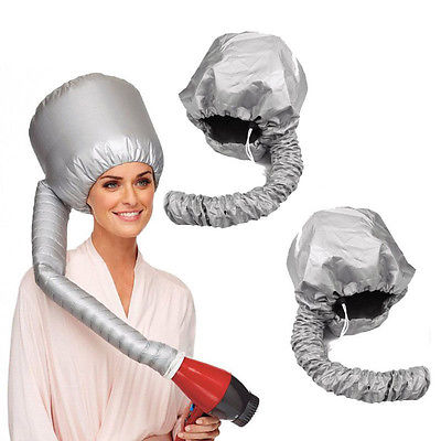 Portable Soft Hair Drying Cap Hood Hat Blow Dryer Attachment Curlformers