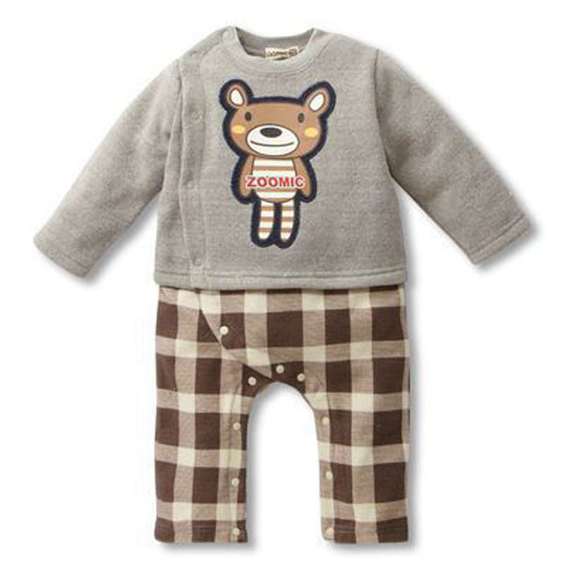 Cute Newborn Baby Girl Boy Clothes Bear Tops T-shirt Pants Jumpsuit Long Sleeve Outfits Set Autumn Winter Infant suit Clothing  2016 autumn baby boy set cotton long sleeve print t shirt pants fashion baby boy clothes infant 3pcs suit hat lt01
