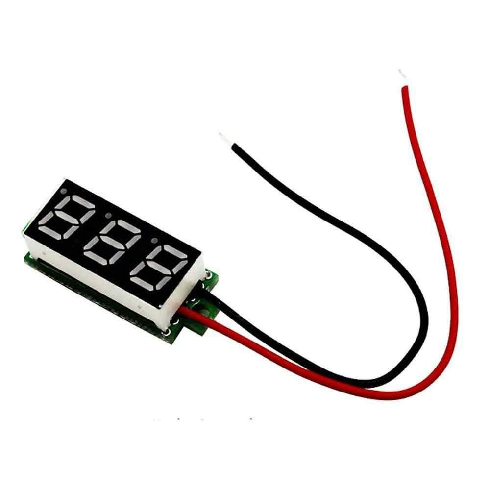 0.28 インチ DC LED デジタル電圧計 0-100V 電圧計オートカー携帯電源電圧テスター検出器 12V 赤緑青黄
