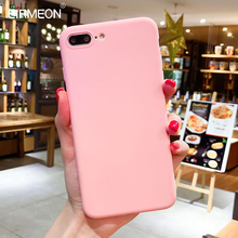 EIRMEON Simple Color Phone Cases For iPhone 7 Plus 5 5S SE 6 6S 8 Candy Soft TPU Case XR X XS Max Back Cover