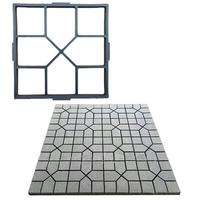 Plastic DIY Path Maker Mold Square Manually Paving Cement Brick Molds for Garden Decoration (Black)