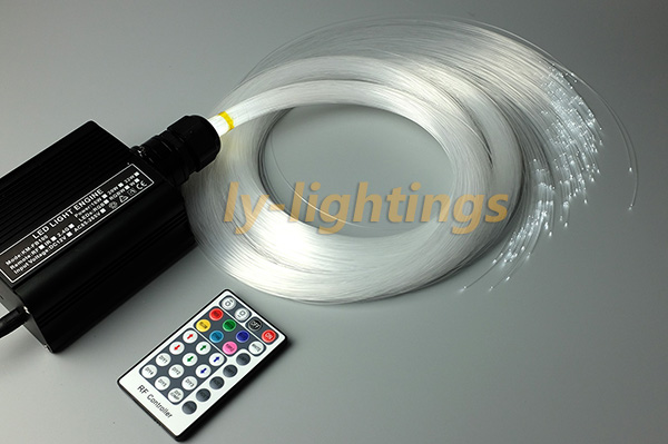 Mini fiber optic light kit optical fiber celing light RGB+W 16W led light source+ 200pcs fibre for bar/shop/room/home decoration for sales decoration fiber optic light kit optical fiber stars celing light rgb w 18w led light source 0 75mmx3mx300 pmma fibre