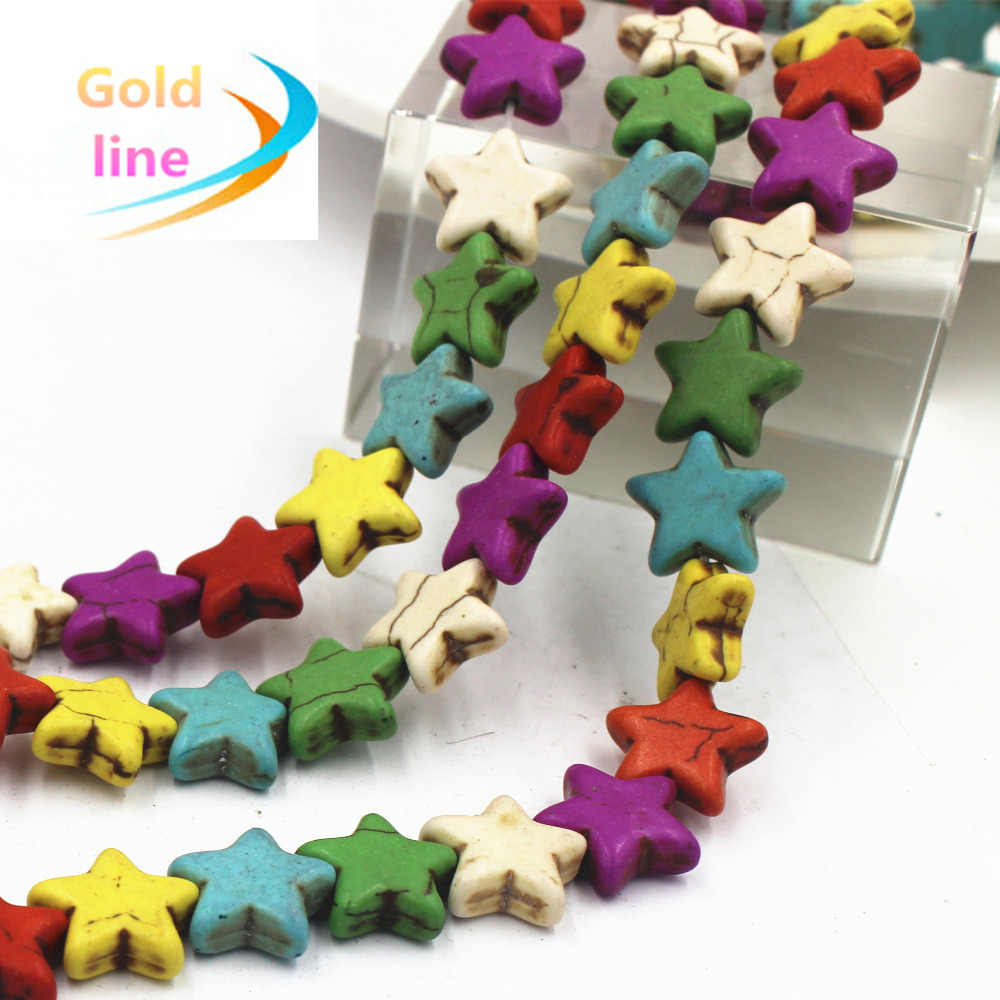 15 pcs Colorful  star Natural  Loose Stone Fit Jewelry DIY making Clothes accessory