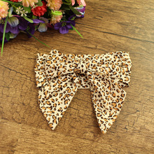 12pcs/lot Cotton Fabric Large Bow Headbands Animal Leopard Print Fox Swan Rabbit Girls Hair Bands Hair Accessories