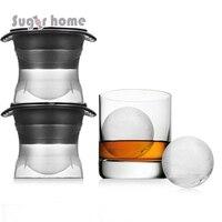 Big Ice Cube Moule Carré Forme Bac À Glaçons En Silicone Fruits Ice cube Maker Bar Cuisine Accessoires whisky glace maker boule moule