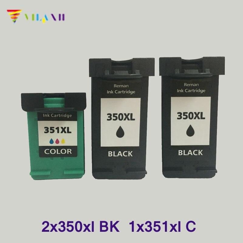 Vilaxh substituição do Cartucho de Tinta compatível Para HP 350 351 xl Photosmart C5280 Officejet J5780 C4280 C4480 C4580 J5730 J5780 ink