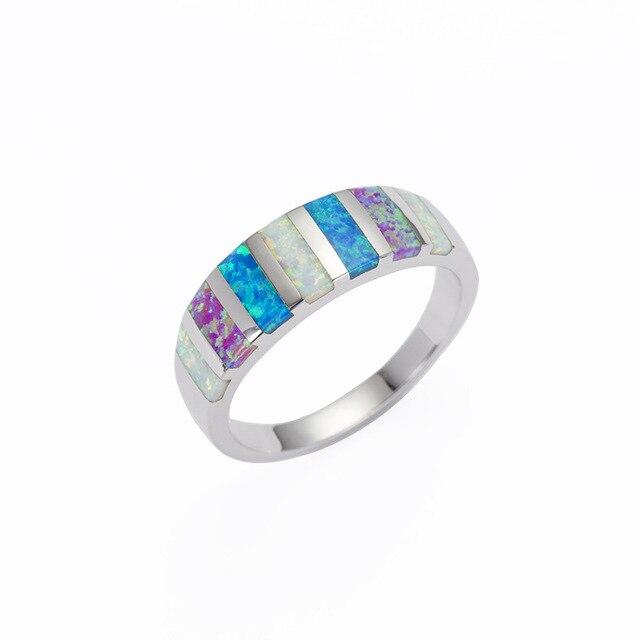 1 stück heißer verkauf titanium stahl opal edelsteine ring farben ...