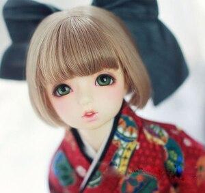 Image 3 - BJD pop haar pruiken Hoge temperatuur draad korte pruiken voor 1/3 1/4 1/6 BJD DD SD YOSD pop super zacht haar