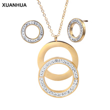 XUANHUA Stainless Steel Jewelry Sets For Women Fashion Jewelry Accessories Set Jewellery