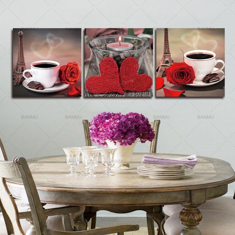 Платно за картини 3 части Модулни - Декор за дома - Снимка 4