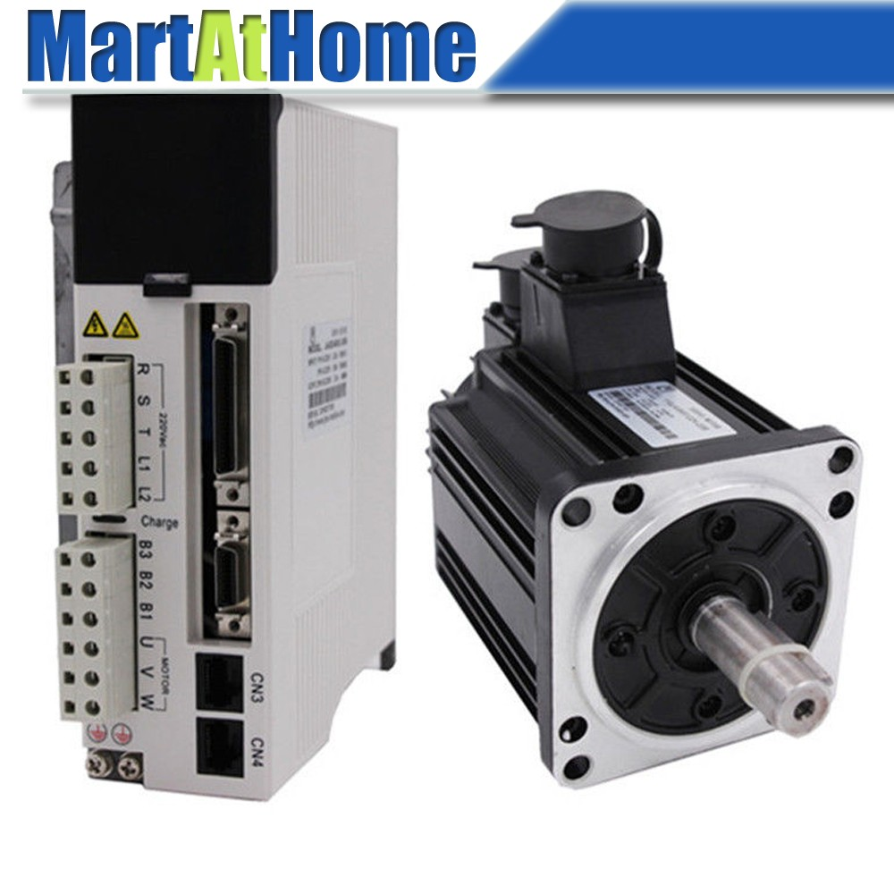 CNC Kit 1.5 KW 5Nm 2000rpm 220V AC Servo Driver JASD15002 20B & AC Servo Motor 130JASM5152K 20B w/ Encoder #SM740 @SD